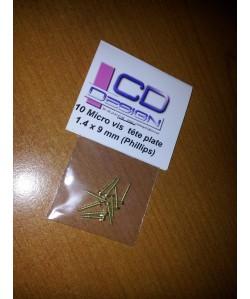 Micro vis Laiton 1.4 x 9 mm